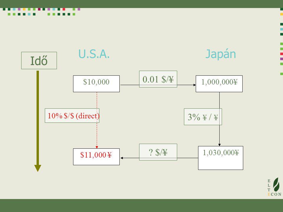 Nemzetközi környezetben hozott pénzügyi döntések A nemzetközi befektetők hitelt adnak és vesznek fel Saját valutájukban Azon országok valutájában, amelyekben üzleti tevékenységet folytatnak Azon valutákban, amelyekben kedvezőbb feltételekkel kínálnak A valutaárfolyamok ingadozásai ezért nem várt hasznokat és veszteségeket okozhatnak