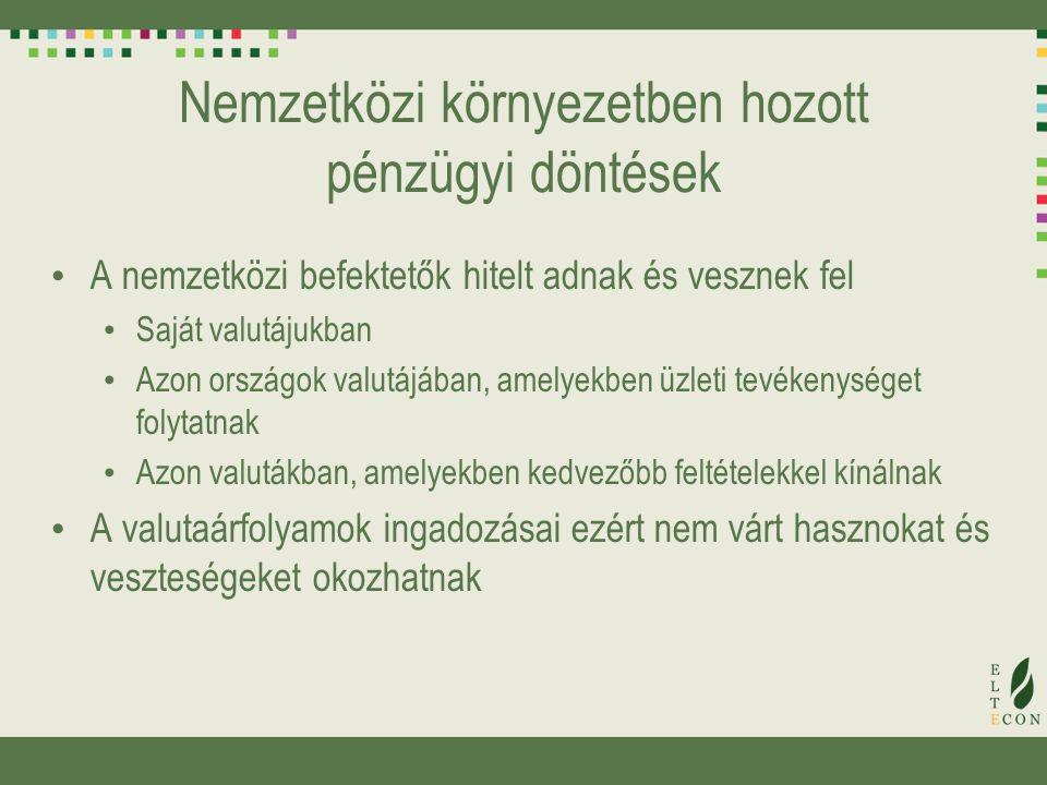 Példa: adózás Az USA-ban az önkormányzati kötvények hozamai után nem kell adót fizetni Magyarországon nem kell kamatadót fizetni pl.