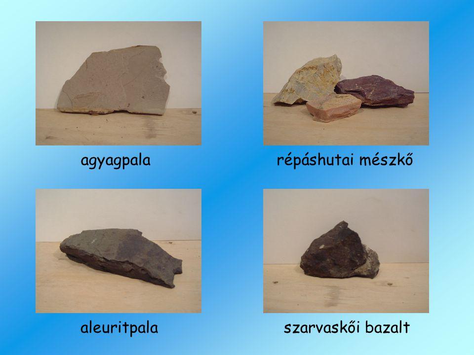 agyagpalarépáshutai mészkő aleuritpalaszarvaskői bazalt