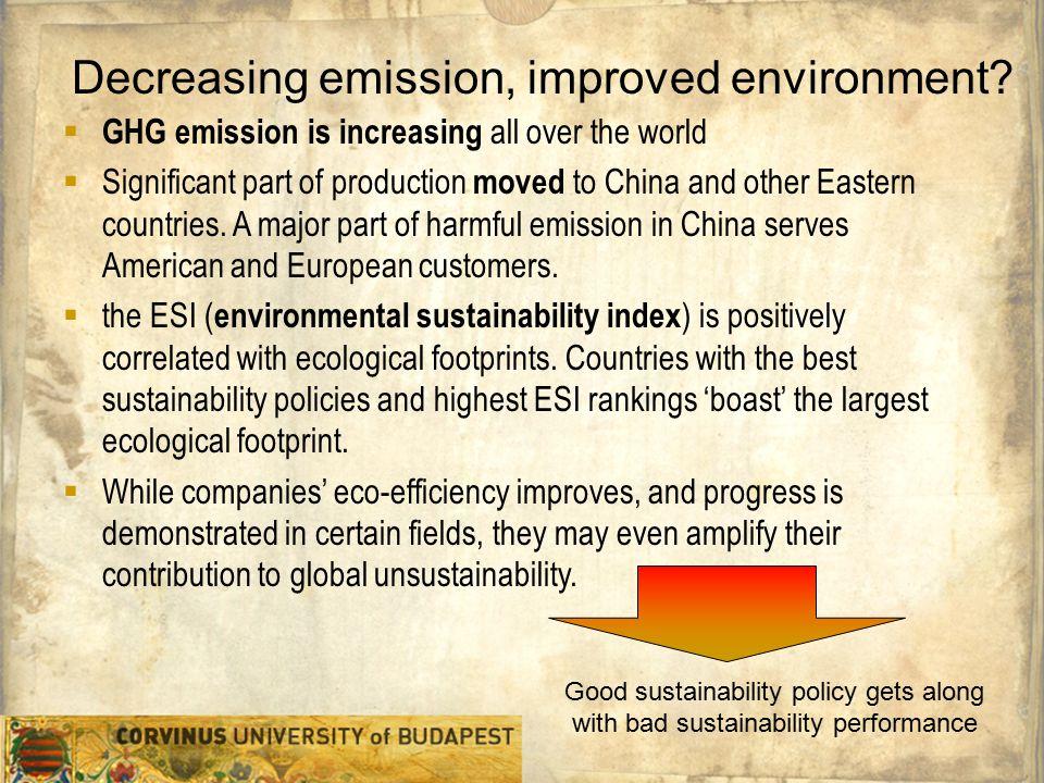 Szervezeti egység Előadó neve Egyetemi prezentációs sablon 5 Decreasing emission, improved environment.
