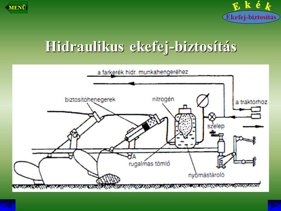 Hidraulikus ekefej-biztosítás Ekefej-biztosítás MENÜ