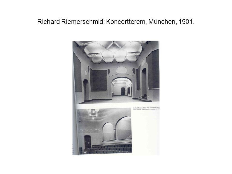 Richard Riemerschmid: Koncertterem, München, 1901.