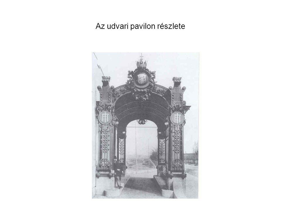Az udvari pavilon részlete