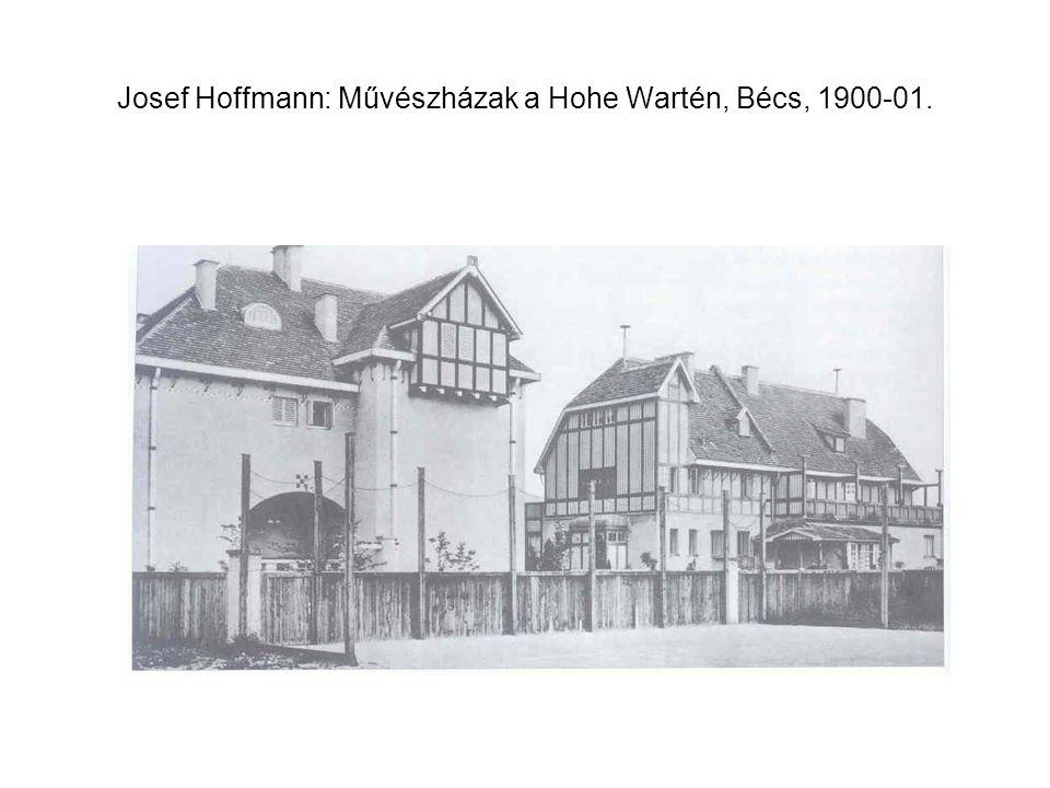 Josef Hoffmann: Művészházak a Hohe Wartén, Bécs, 1900-01.