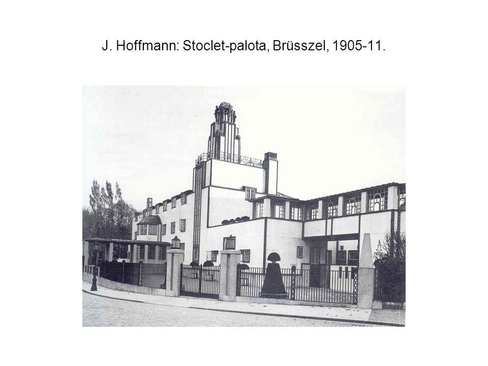 J. Hoffmann: Stoclet-palota, Brüsszel, 1905-11.