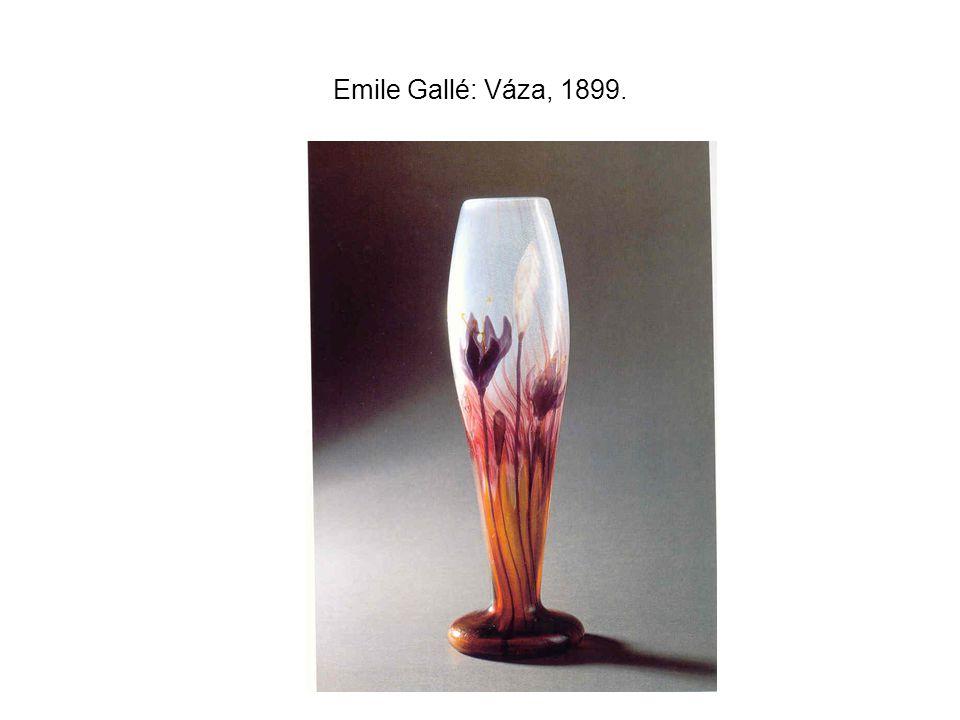 Emile Gallé: Váza, 1899.