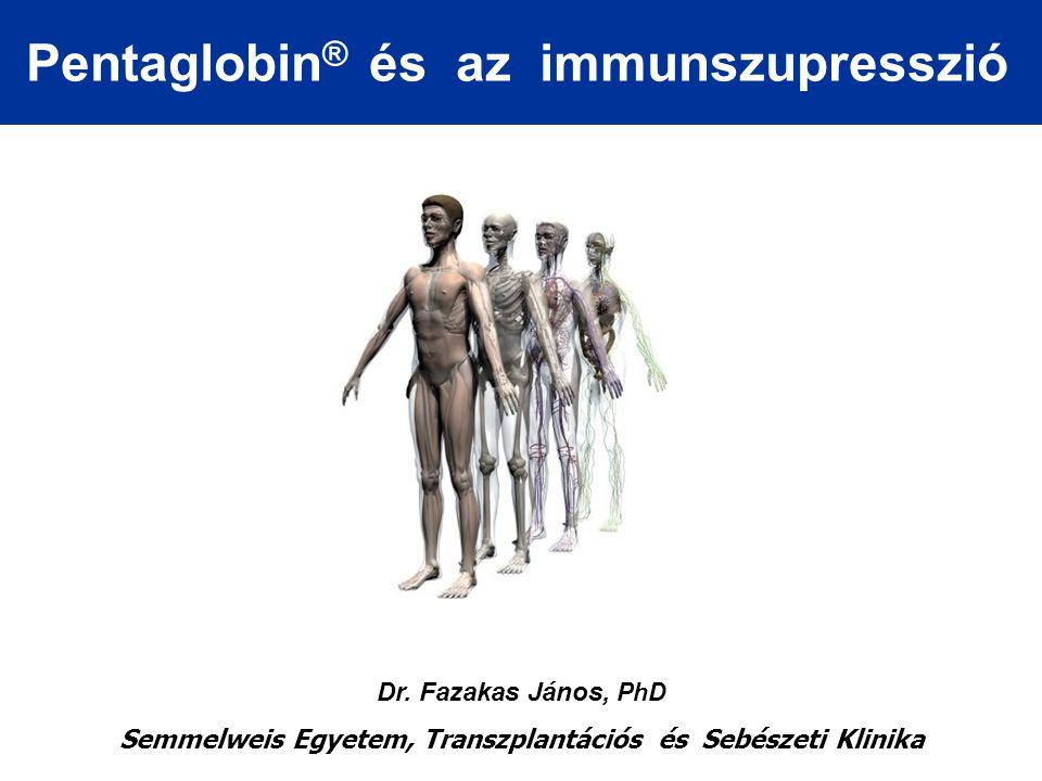 Az immunszupresszió antigén felismerés gátlás: szteroidok proliferáció gátlás: azatioprin, ciklofoszfamid, MMF depléció-moduláció gátlás: mono- és poliklonális antitestekmono- és poliklonális antitestek citokin termelés gátlás antiCD25 Igciklosporin, takrolimusz, szirolimusz, everolimusz, antiCD25 Ig ischaemia-reperfusio migráció gátlás oligonukleotidok, adhéziós molekulák, FTY720 kostimulációs blokád monoklonális antitestekmonoklonális antitestek, receptor konjugát (CD80, CD40, CD156…)