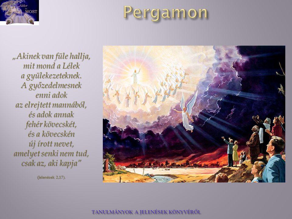 """""""Akinek van füle hallja, mit mond a Lélek a gyülekezeteknek. A győzedelmesnek enni adok az elrejtett mannából, és adok annak fehér kövecskét, és a köv"""