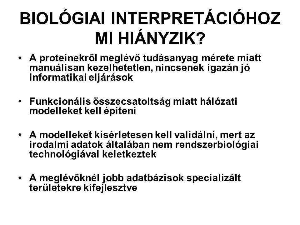 PROTEIN-PROTEIN INTERAKCIÓ ADATBÁZISOK INTERAKCIÓ ADATBÁZISOK