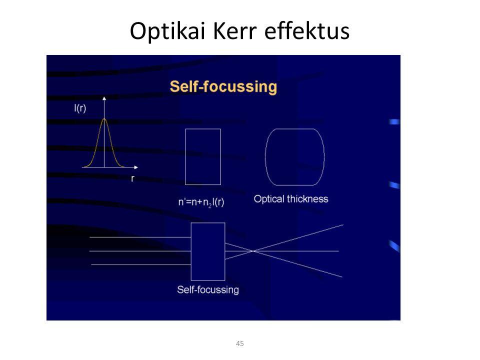 45 Optikai Kerr effektus