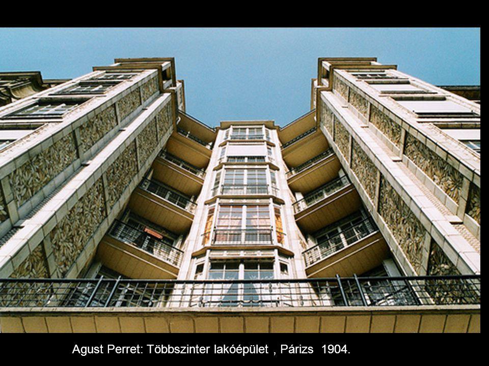 Agust Perret: Többszinter lakóépület, Párizs 1904.