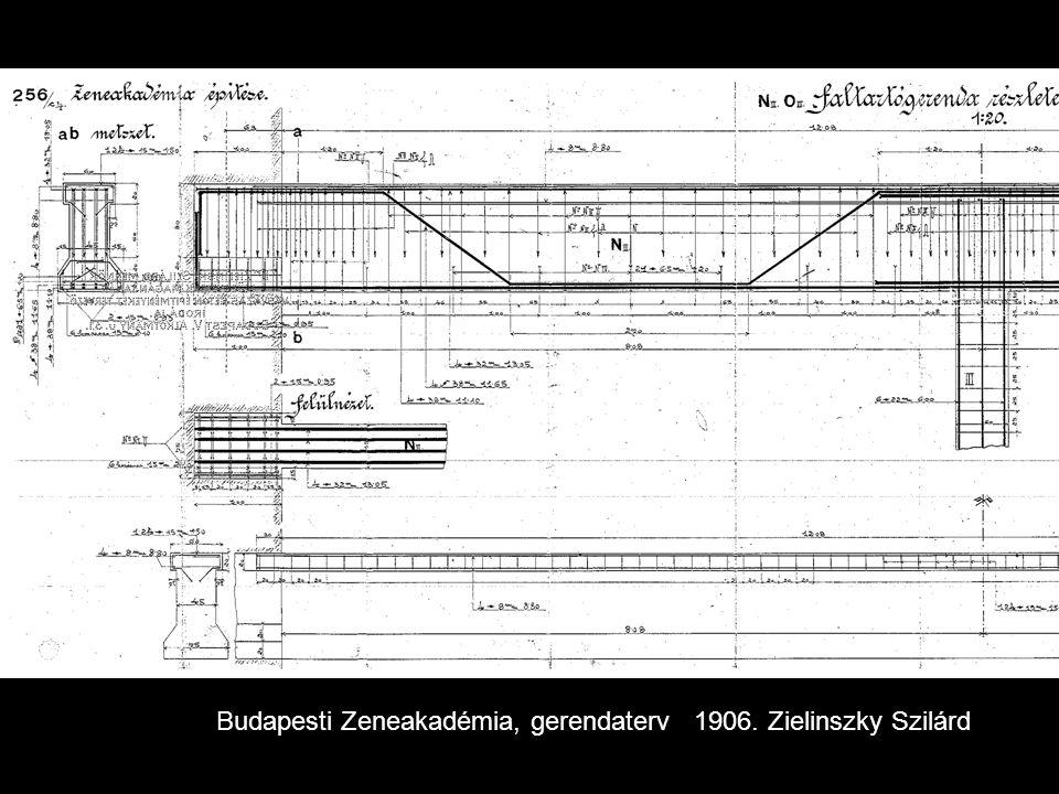 Budapesti Zeneakadémia, gerendaterv 1906. Zielinszky Szilárd