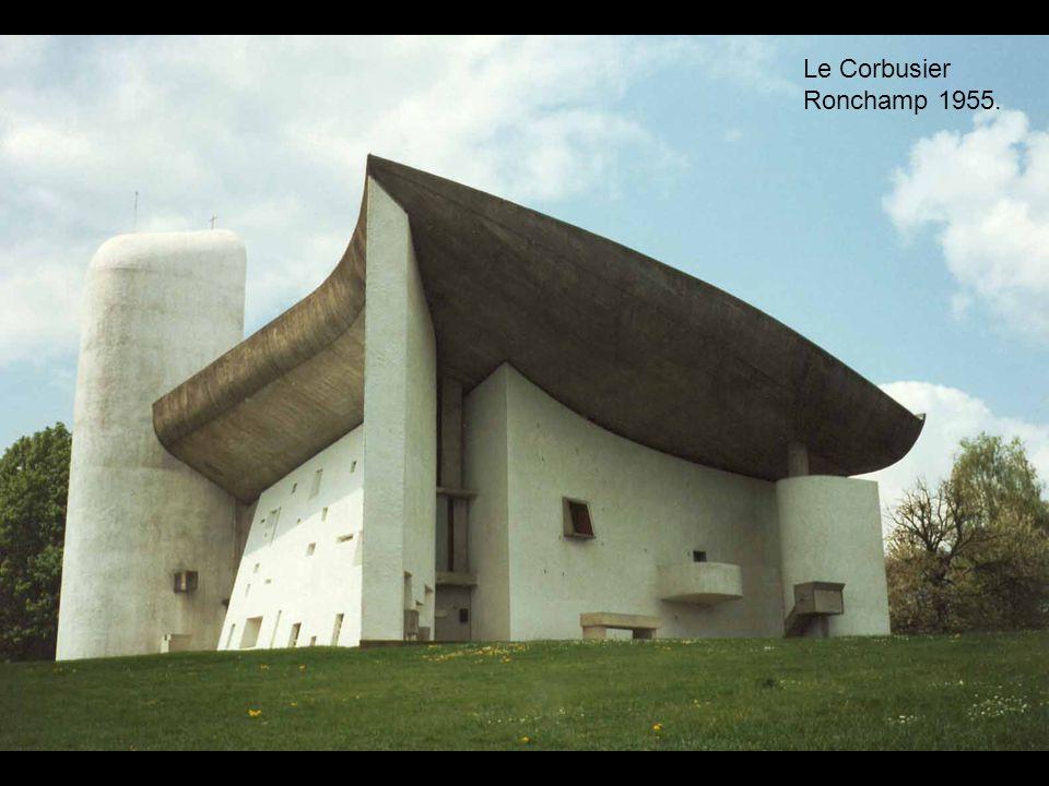 Le Corbusier Ronchamp 1955.