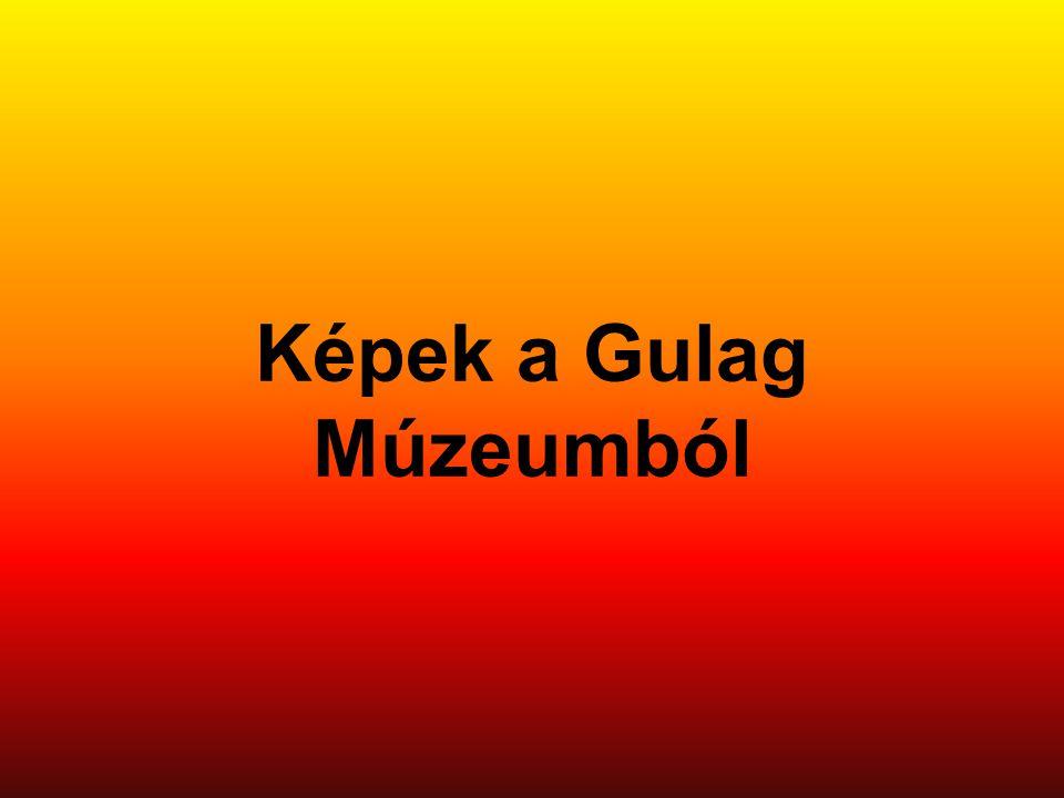 Képek a Gulag Múzeumból
