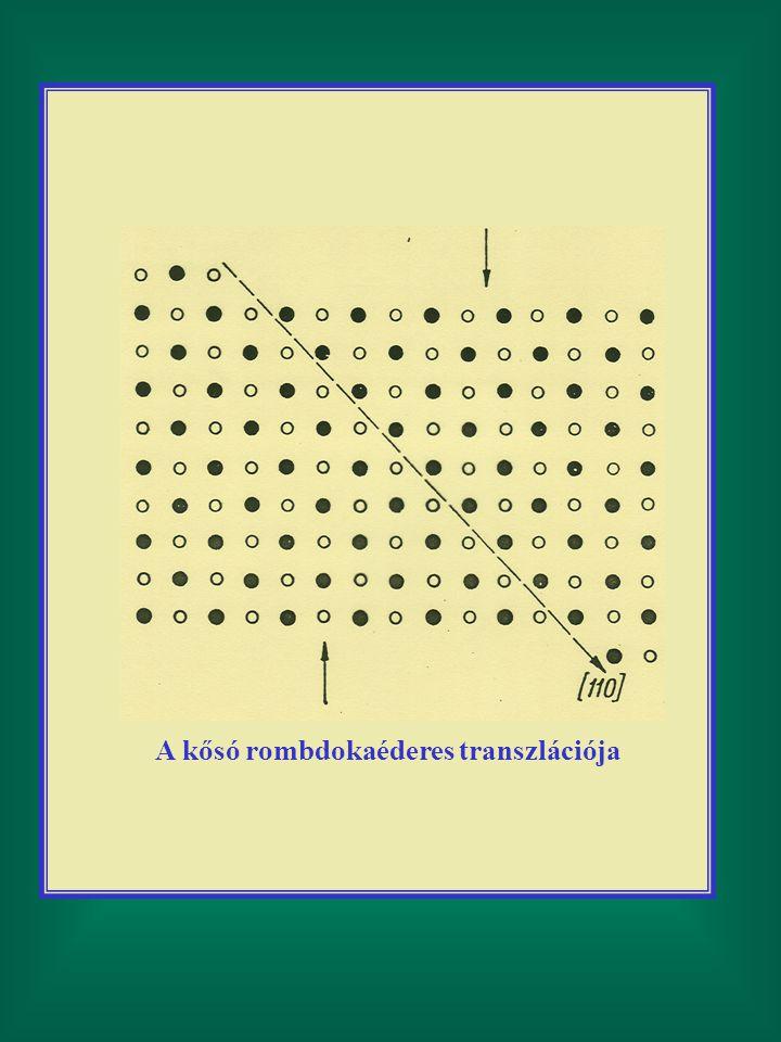 A kősó rombdokaéderes transzlációja