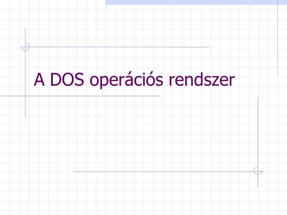 A DOS operációs rendszer