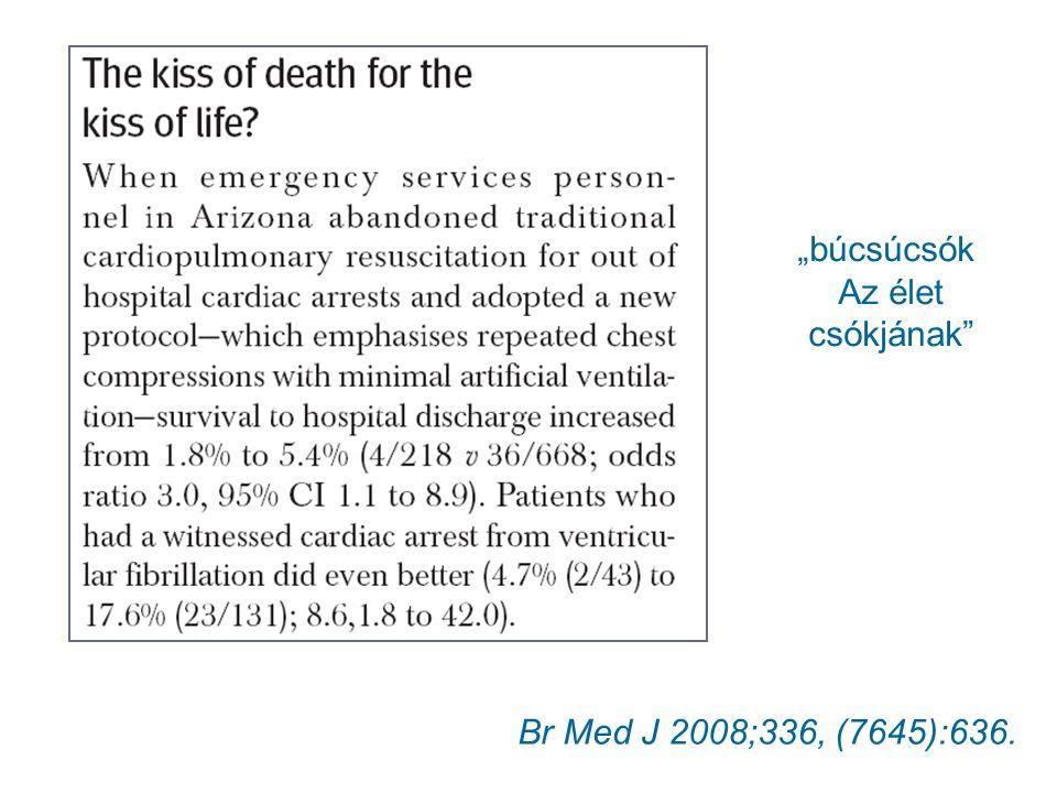 """Br Med J 2008;336, (7645):636. """"búcsúcsók Az élet csókjának"""