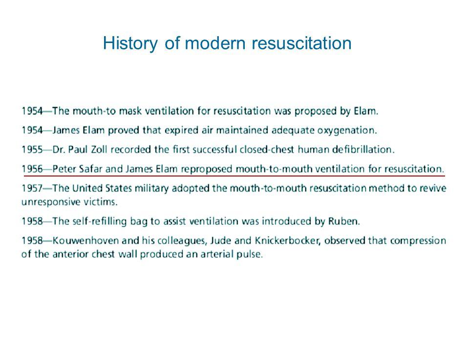 History of modern resuscitation