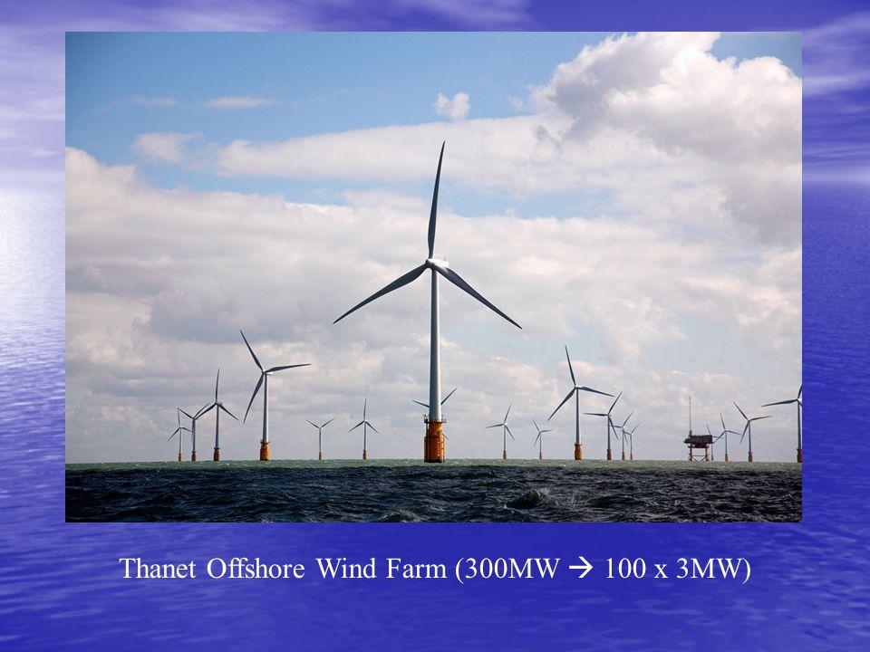 Thanet Offshore Wind Farm (300MW  100 x 3MW)