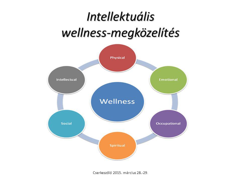 Intellektuális wellness-megközelítés Cserkeszőlő 2015. március 28.-29.