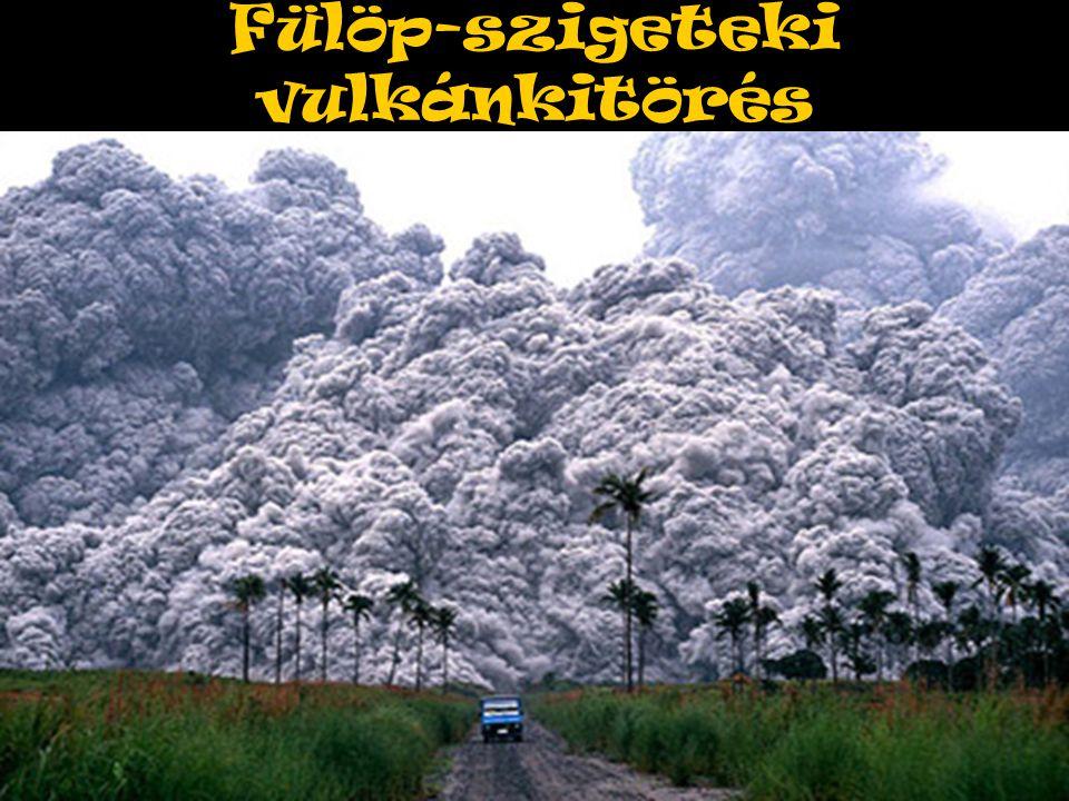 Fülöp-szigeteki vulkánkitörés