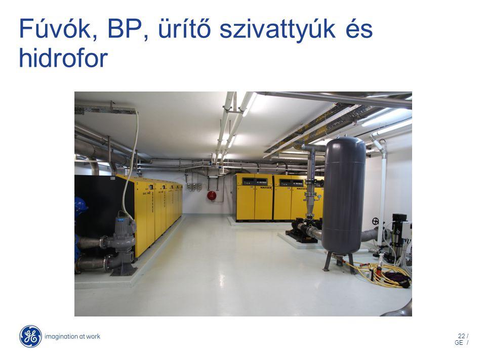22 / GE / Fúvók, BP, ürítő szivattyúk és hidrofor