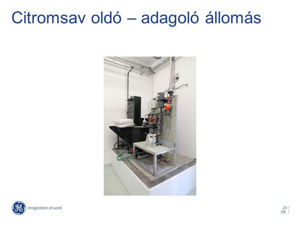 24 / GE / Citromsav oldó – adagoló állomás