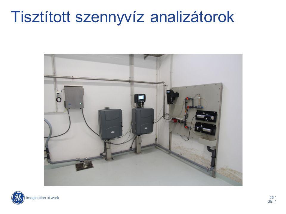 26 / GE / Tisztított szennyvíz analizátorok