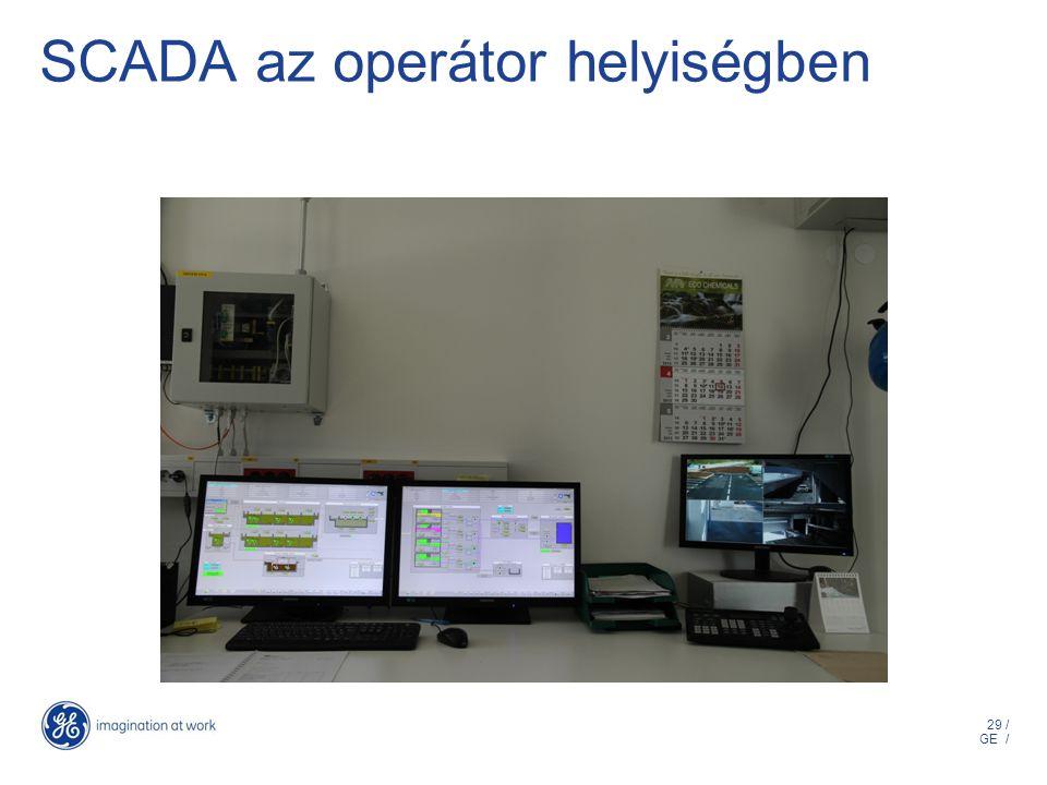 29 / GE / SCADA az operátor helyiségben