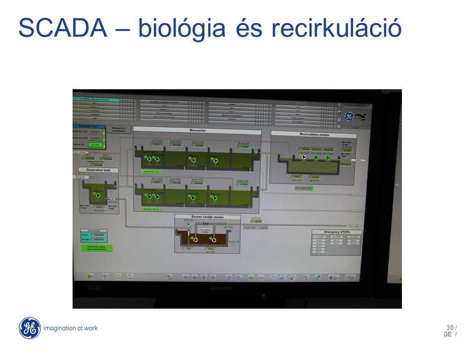 30 / GE / SCADA – biológia és recirkuláció