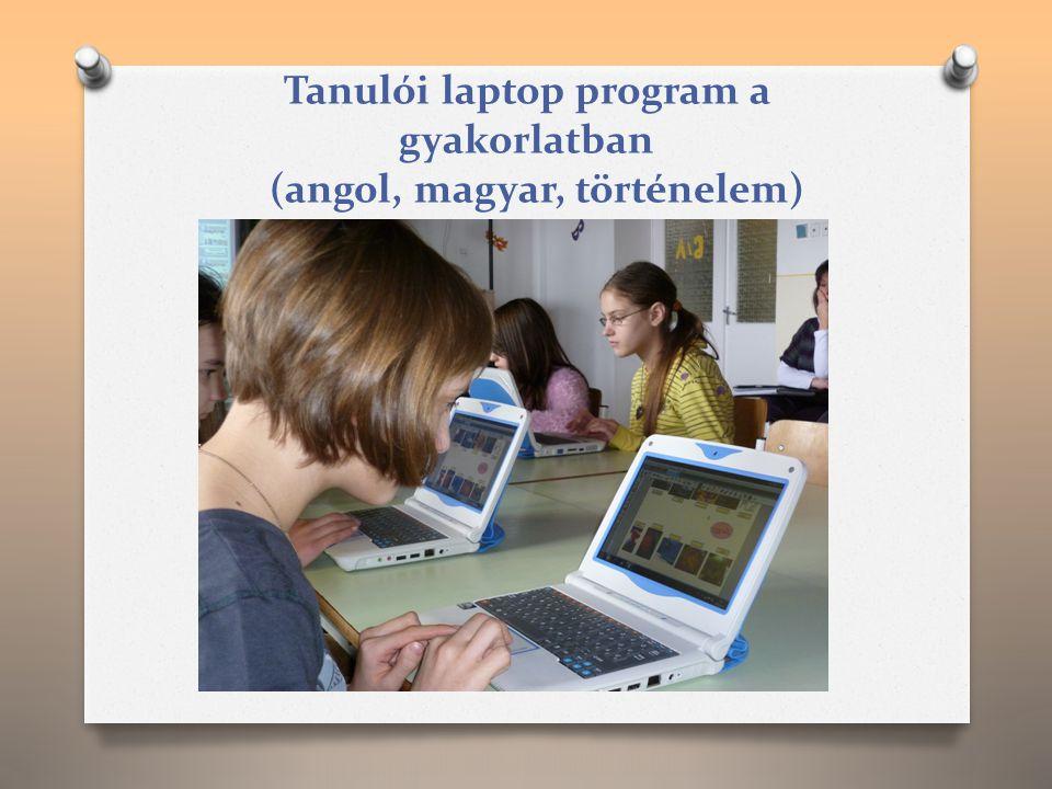 Tanulói laptop program a gyakorlatban (angol, magyar, történelem)