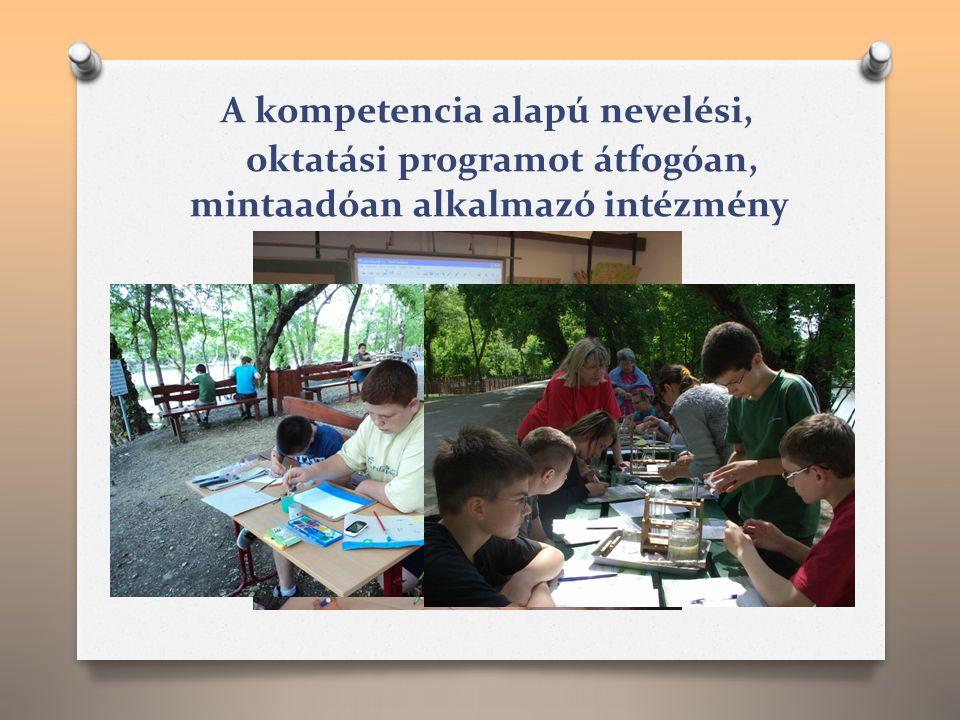 A kompetencia alapú nevelési, oktatási programot átfogóan, mintaadóan alkalmazó intézmény