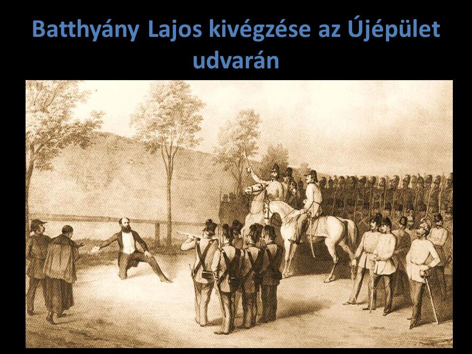 Batthyány Lajos kivégzése az Újépület udvarán