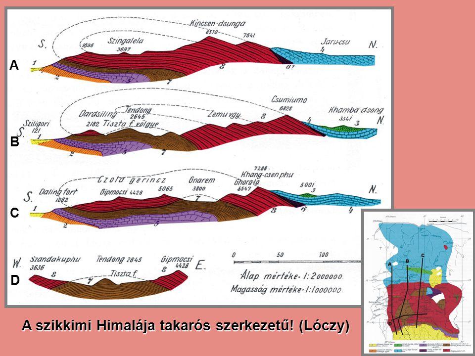 A B C D A szikkimi Himalája takarós szerkezetű! (Lóczy)
