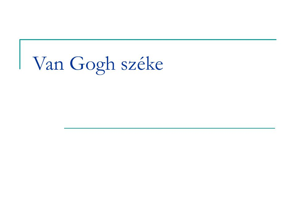 Van Gogh széke