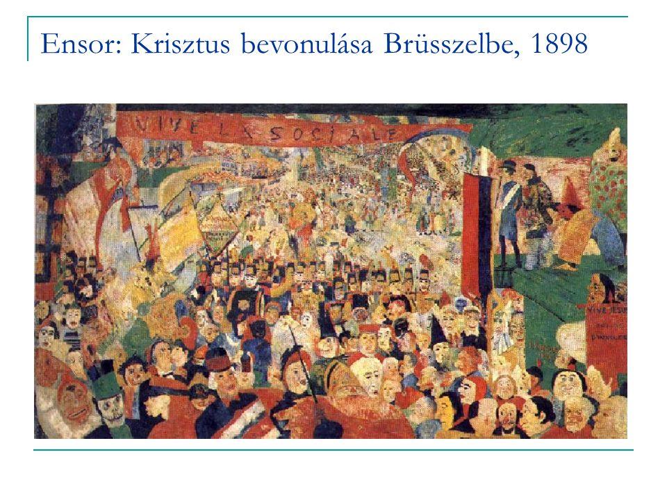 Ensor: Krisztus bevonulása Brüsszelbe, 1898