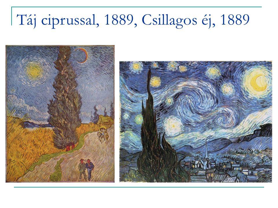 Táj ciprussal, 1889, Csillagos éj, 1889