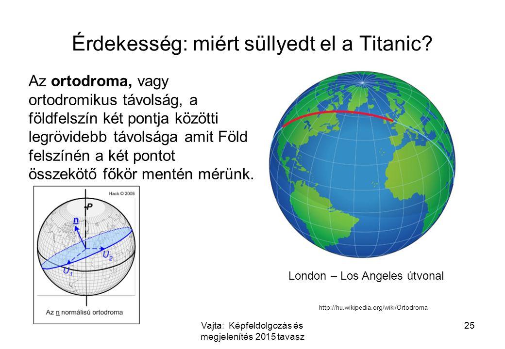 Érdekesség: miért süllyedt el a Titanic? Az ortodroma, vagy ortodromikus távolság, a földfelszín két pontja közötti legrövidebb távolsága amit Föld fe