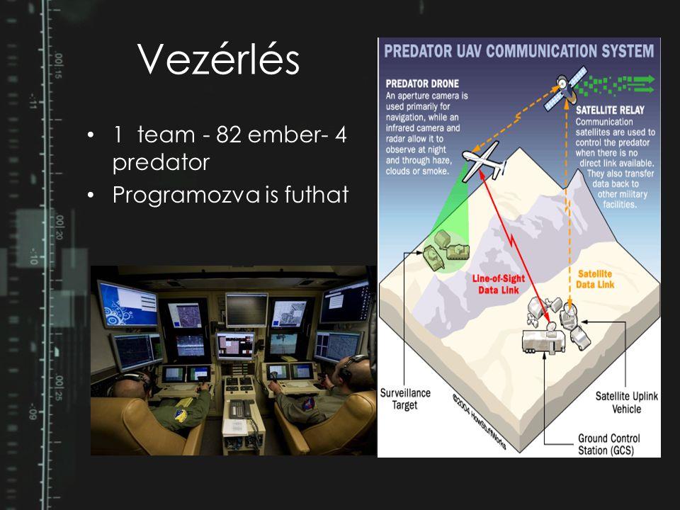 Vezérlés 1 team - 82 ember- 4 predator Programozva is futhat
