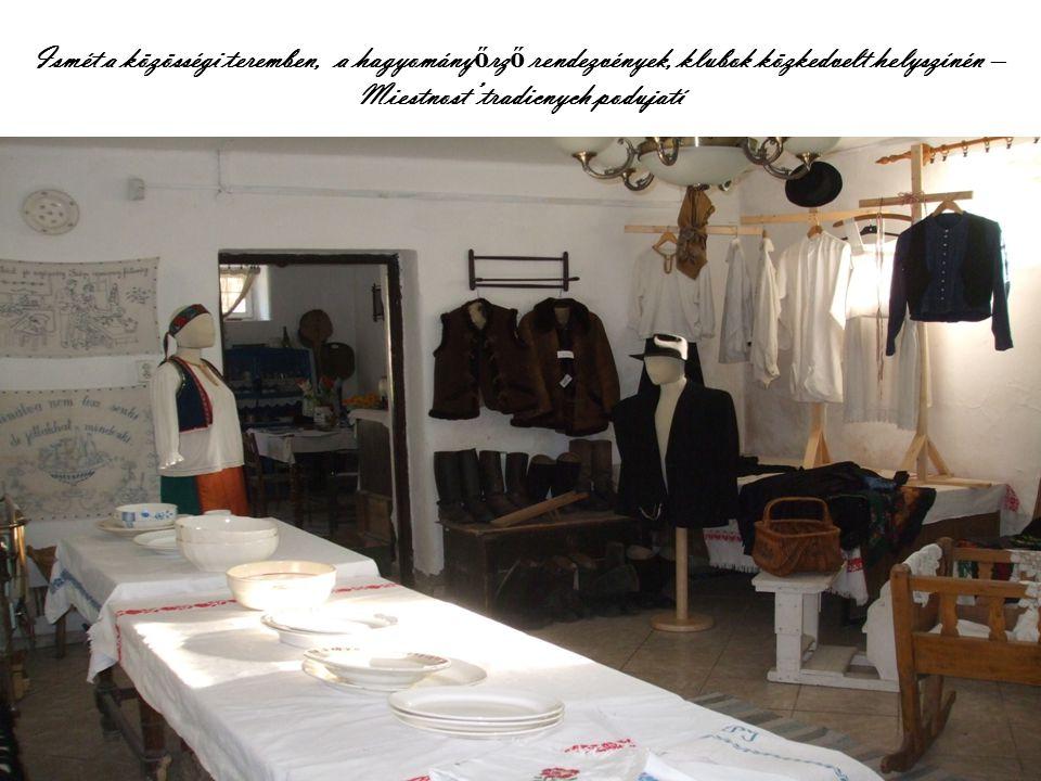 Ismét a közösségi teremben, a hagyomány ő rz ő rendezvények, klubok közkedvelt helyszínén – Miestnost' tradicnych podujatí