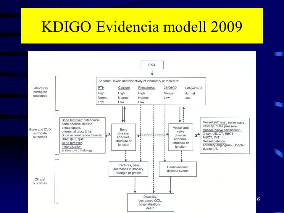 7 3.1: Diagnózis CKD–MBD: biokémiai eltérések CKD St.3 Ca, P, PTH, ALP, 25(OH)D3 mérése (1C) –CKD St.3: 6-12 havonta –CKD St.4: 3-6 havonta –CKD St.5: 1-3 havonta Kóros értékek esetén gyakrabban kell mérni A trend a fontos nem az egyszeri érték (1C) A Ca és P értékeket önmagukban kell értékelni a CaxP érték helyett (2D)