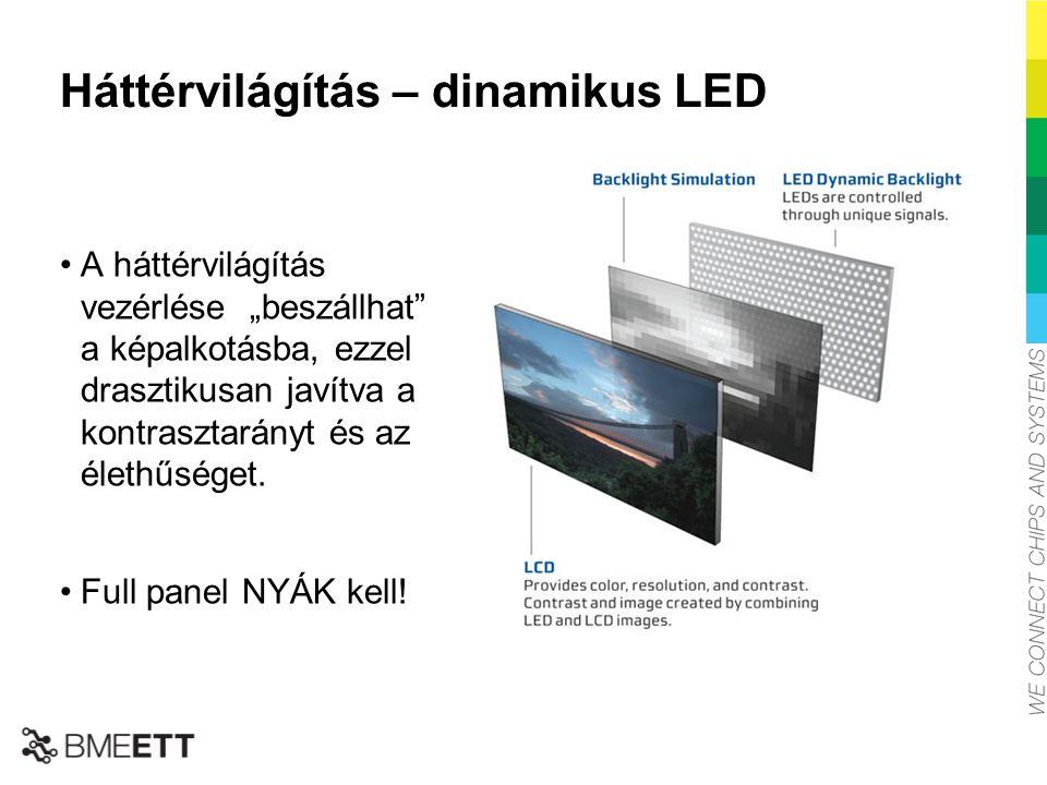 """Háttérvilágítás – dinamikus LED A háttérvilágítás vezérlése """"beszállhat"""" a képalkotásba, ezzel drasztikusan javítva a kontrasztarányt és az élethűsége"""