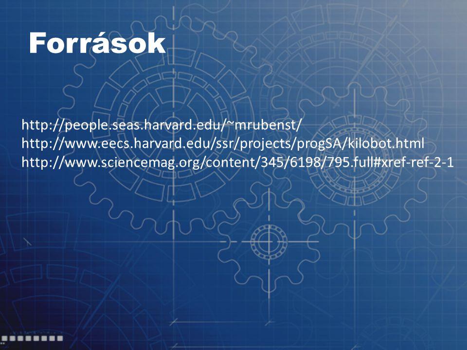 Források http://people.seas.harvard.edu/~mrubenst/ http://www.eecs.harvard.edu/ssr/projects/progSA/kilobot.html http://www.sciencemag.org/content/345/6198/795.full#xref-ref-2-1