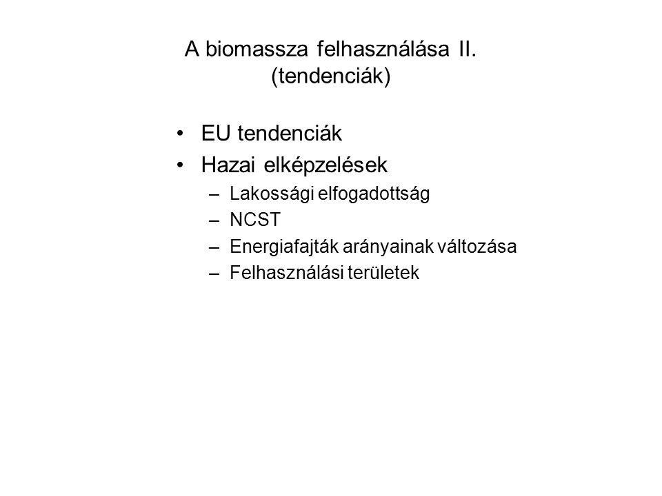 A biomassza felhasználása II.