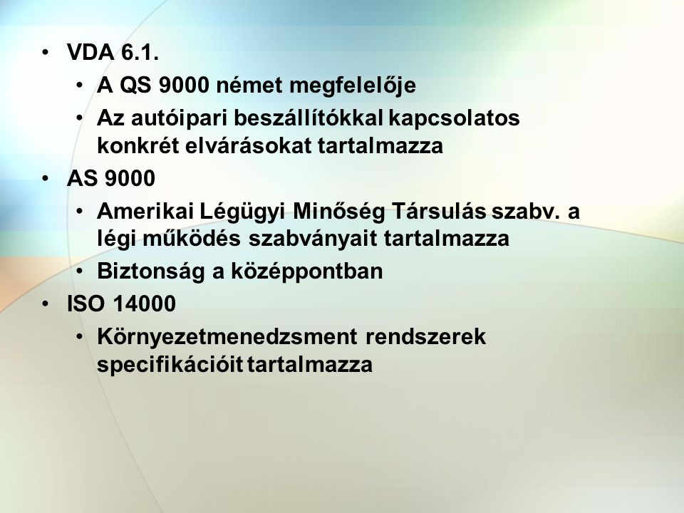 VDA 6.1.