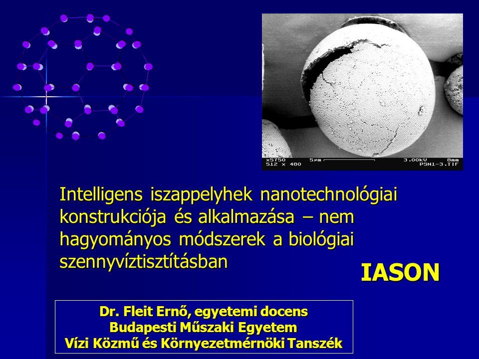 Intelligens iszappelyhek nanotechnológiai konstrukciója és alkalmazása – nem hagyományos módszerek a biológiai szennyvíztisztításban IASON Dr. Fleit E