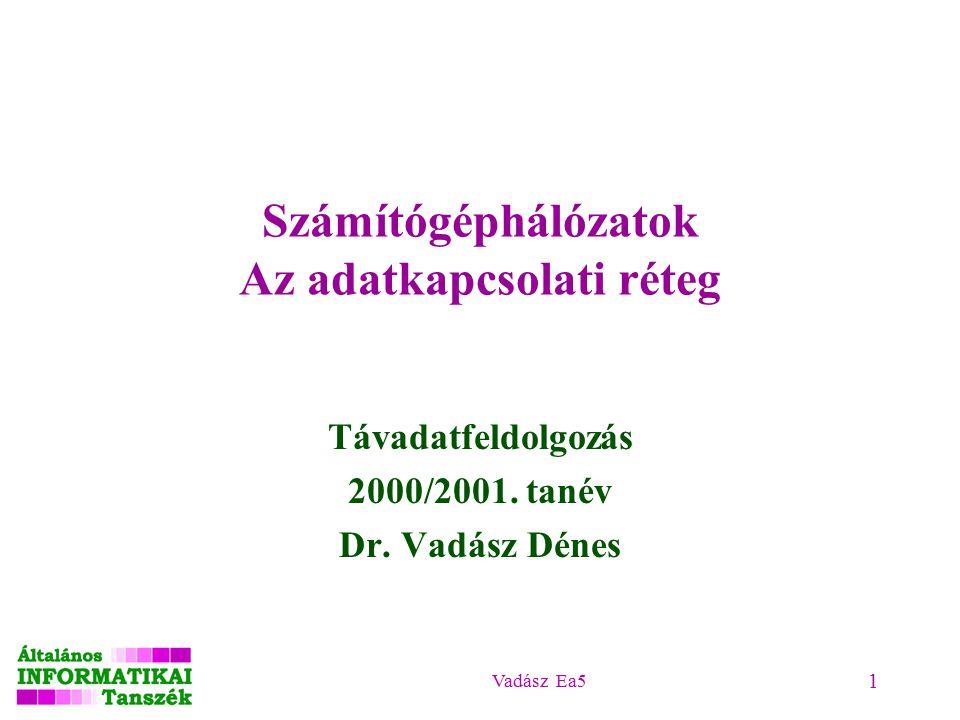 Vadász Ea5 1 Távadatfeldolgozás 2000/2001. tanév Dr.