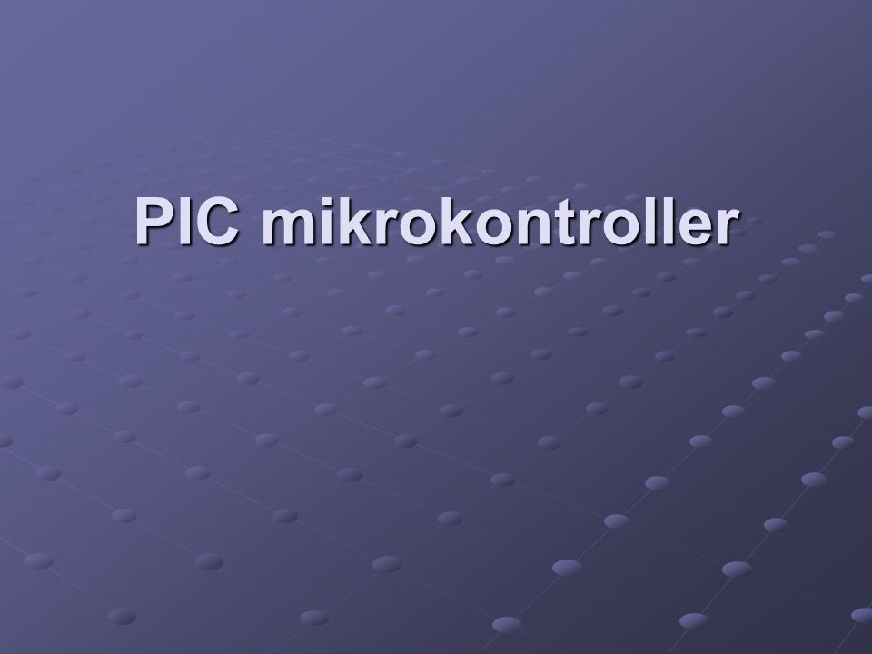 PIC mikrokontroller