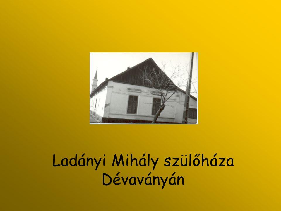 Emléktábla Ladányi Mihály egykori csemői háza előtt. (Bálványos Huba munkája)