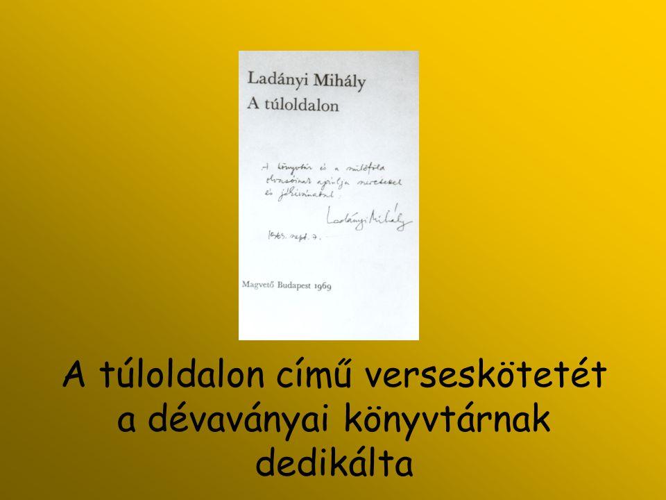 1996.szeptember 17. Koszorúzás Ladányi sírjánál halálának 10.